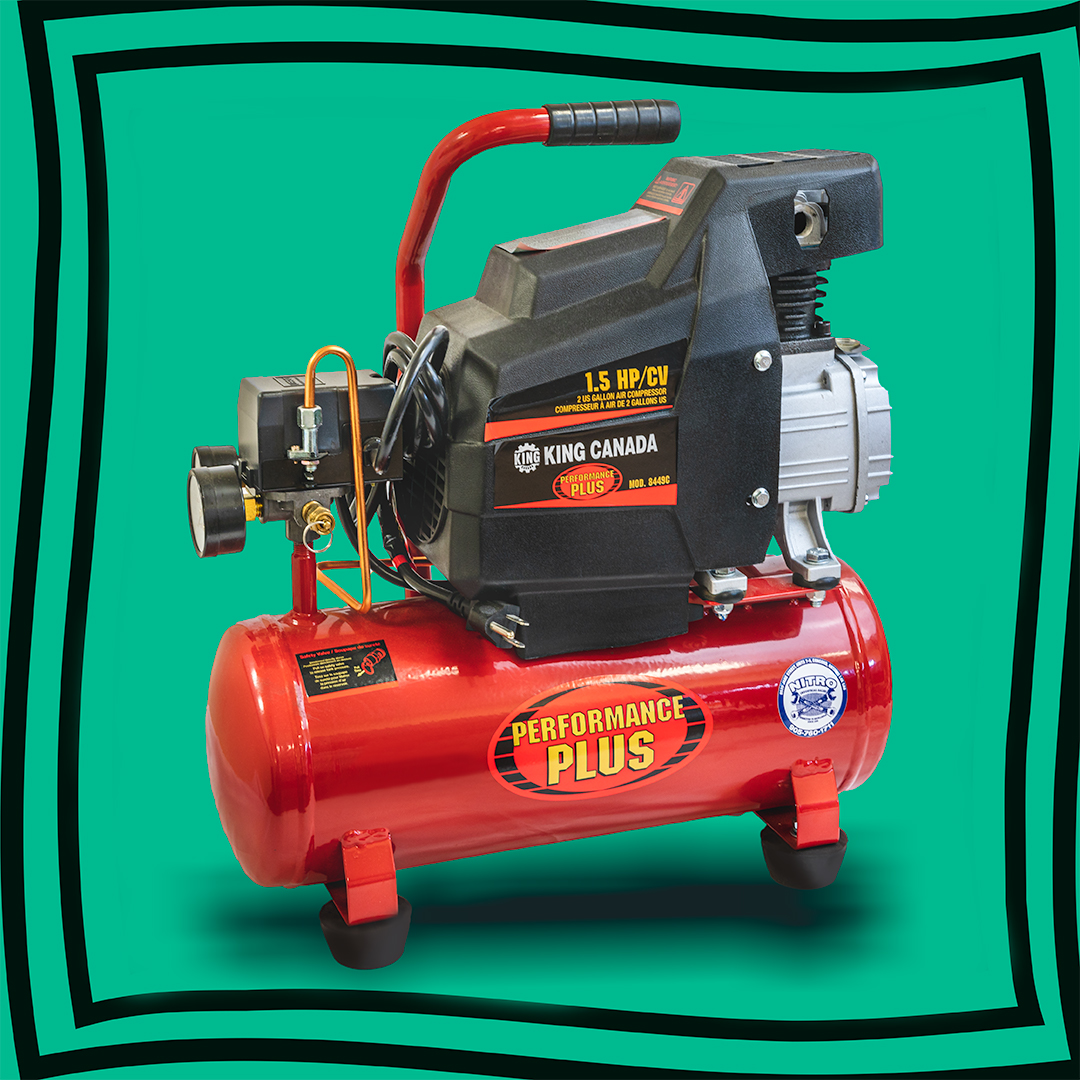 King 2 gallon Compressor Photo