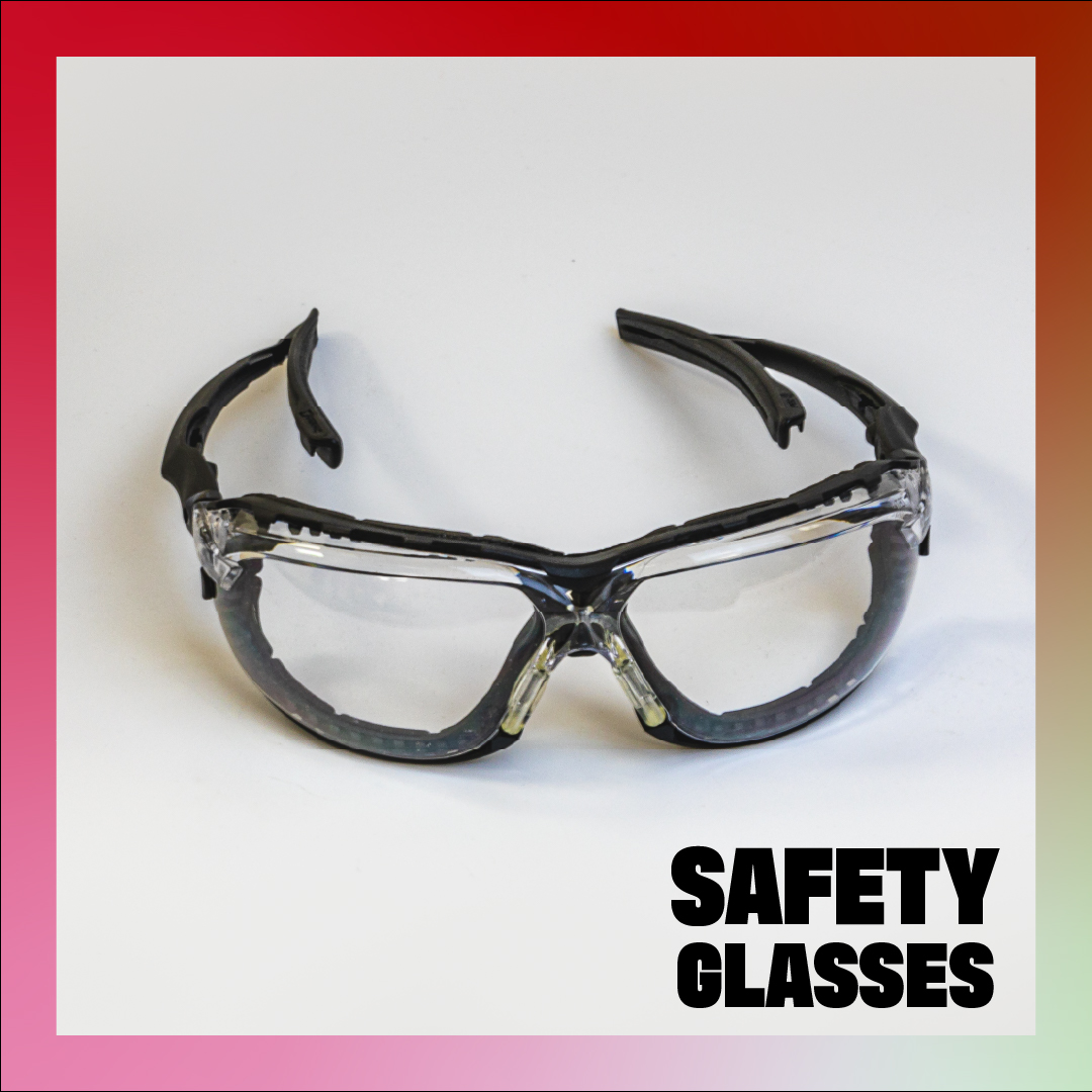 safety glasses - black heavy duty