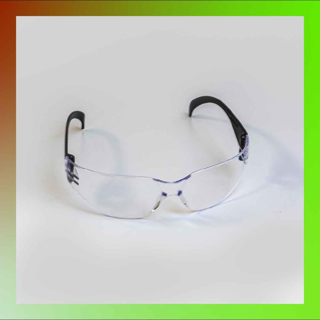 safety glasses transparent