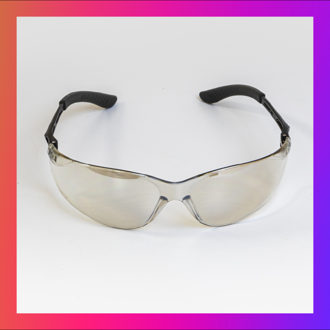 safety glasses brownish