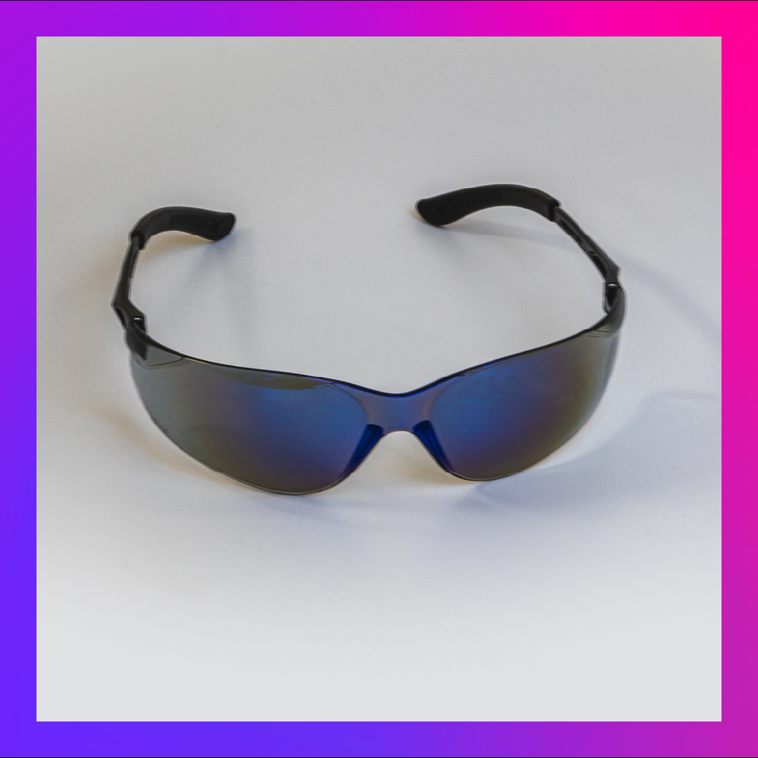 safety glasses blueish oval