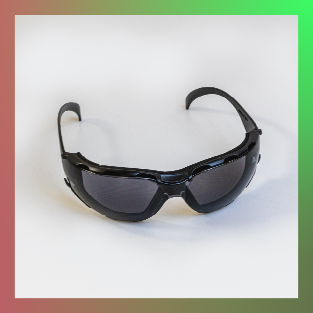safety glasses black round